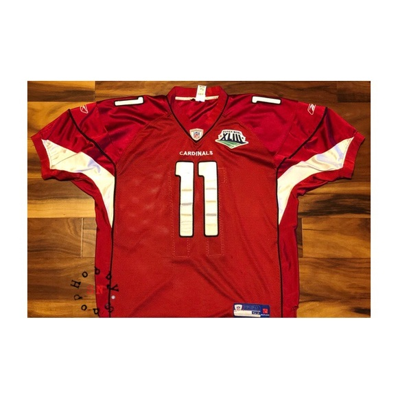 best service 75dcc 5722a Men's Reebok Larry Fitzgerald Super Bowl Jersey
